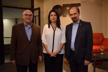 Hectos Bajac, Florencia Sabatini y Eduardo Hipogrosso