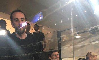 Antoine Griezmann, con la camiseta de Boca Juniors, en el Bernabéu
