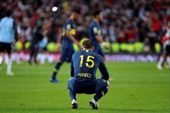 Así terminó Nández tras la derrota de Boca ante River