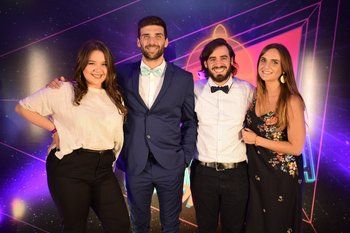 Ayelen Curbelo, Fabian Saporoti, Valentin Berardi y Ana Lucia Utermark