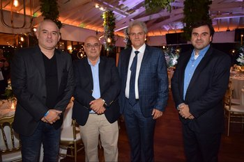 Gustavo Gorini, Alberto Gourgues, Mario Alonso y Alfredo Vaneskaian