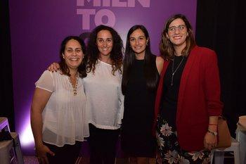 Natalia Casas, Sabrina Sauksteliskis, Cynthia Añasco y Maggie Giuria