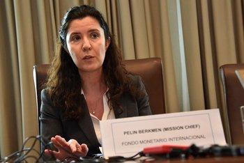 Pelin Berkment, jefa de la misión del Fondo Monetario Internacional