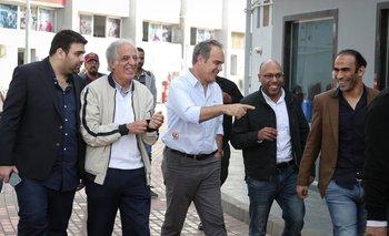 Martín Lasarte en las instalaciones de Al Ahly de Egipto