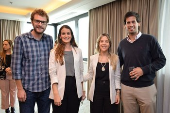 Federico Fragola, Jimena Artola, Marianella Capoano y Marcelo Medina