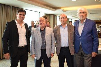 Martin Cervini, Fernándo Plane, Gerardo Olave y Juan Carlos Gorini