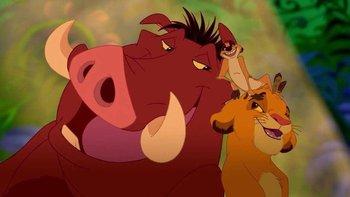 """""""El rey león"""" hizo mundialmente famosa la frase """"hakuna matata"""", que en swahili significa """"no hay problema""""."""