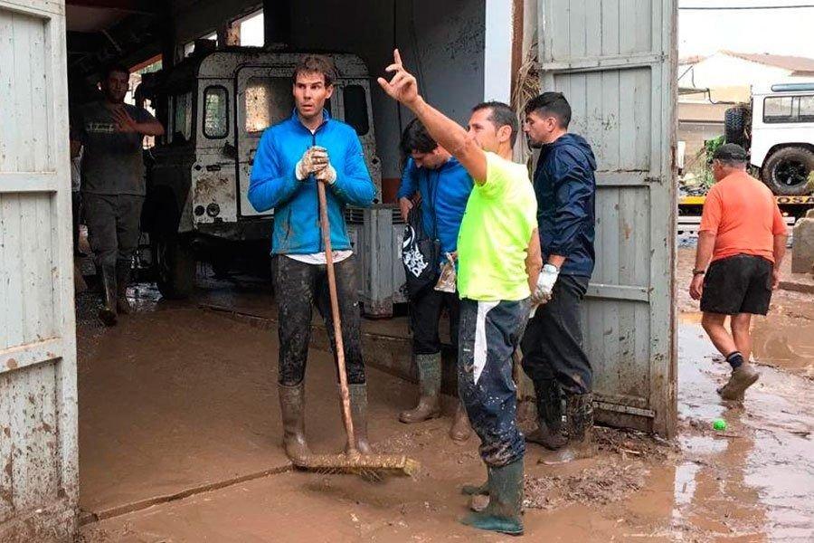 Nadal dona un millón a los damnificados por la riada de Mallorca