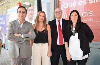 Daniel Pasca, Natalia Baldizan, Germán Gómez y Natalie Macadar
