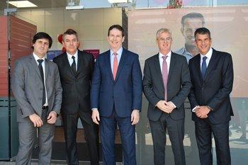 Enrique Miranda, Daniel Bagnasco, Brendan King, Horacio Correge y Mauricio Pelta