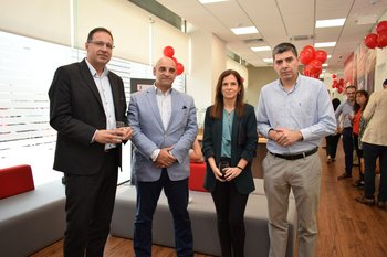 Gonzalo Coelho, Wilson Lemus, Roxana Fuentes y Eduardo Marichal