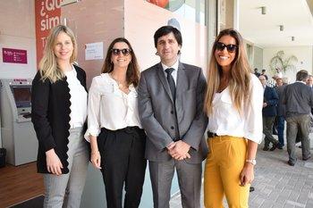 Lucia Perera, Gabriella Molla, Enrique Miranda y Florencia Kleist