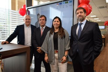 Sergio Pensatori, Luis Álvarez, Fernanda Brignoni y Juan Baluga