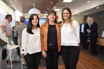 Valeria Micucci, Kely Machino y Lorena Lagos