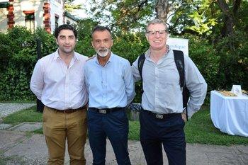 Santiago Aramendia, Rafael García y Enrique Topolansky