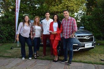 Agustina Montiel, Valeria Stella, Rodrigo García, Estefanie Martínez y Jose Pereira Machado