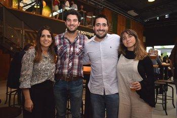 Alejandra Jaybek, Marcelo Eiuseppini, Lucas Rey y Mariana Gomes De Freitas