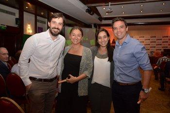 Alfonso Peñasco, Natalia Forne, Natalia Sosa y Adrian Morgavi