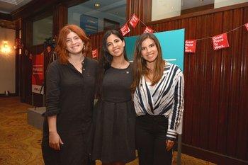 Elena Buonomo, Ana Sofia Montero y Cecilia Finozzi
