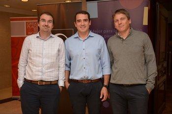 Marcos Battegattore, Santiago Sagari y Alejandro Ponte