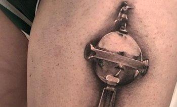 La Copa Libertadores, eL nuevo tatuaje de Giorgian De Arrascaeta