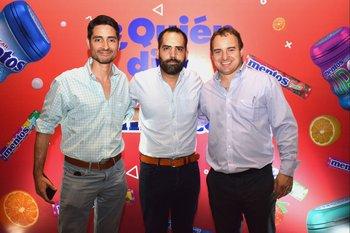 Sebastian Evia, gonzalo Galvez y Fernándo Rodríguez