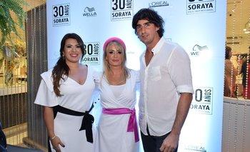Melisa y Soraya Fernández y Diego Maciel