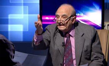 Federico Fasano durante un debate televisivo con Héctor Amodio Pérez en 2015