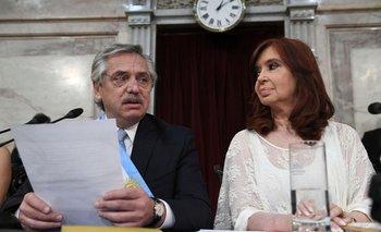 Alberto y Cristina Fernández el pasado 10 de diciembre en el Congreso, cuando asumieron como presidente y vicepresidenta de Argentina por el período 2019-2023