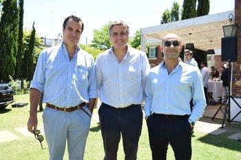 Federico Gil, Juan Grasso y Pablo Camors