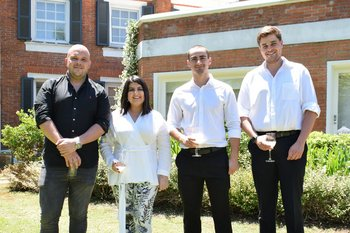 Ignacio Bertrand, Sirley Texeira, Tiago Pagliano y Joaquin Simon