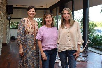 Silvana Lestido, Primavera Oribe y Virginia Campodonico