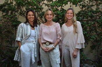 Fernánda Sanchez, Carina Vanrell y Magdalena Castro