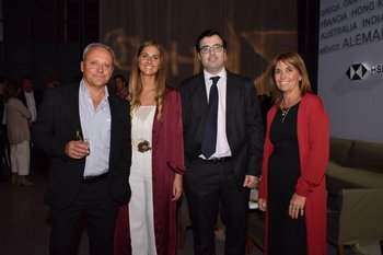 José Fernández, Florencia Gaggero, Miguel Sartori y Jacqueline Castilla