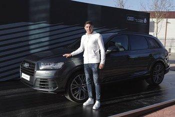 Valverde y el Audi Q7 que eligió en febrero de este año