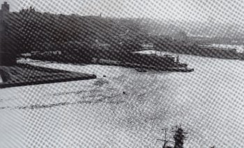 El Graf Spee en la bahía de Montevideo
