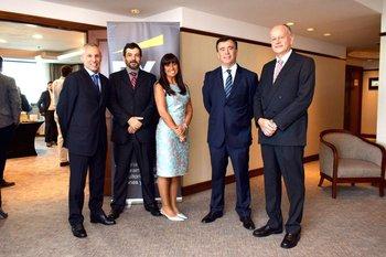 Alejandro Barboni, Leonardo Costa, Martha Roca, Marcelo Recagno y Fernándo Reggio