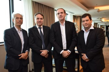 Carlos Benedetti, Leonardo Domankis, Federico Hermann y Diego Fagundez