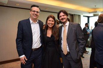 Leonardo Arcieri, Carolina Estecez y Renzo Paolini