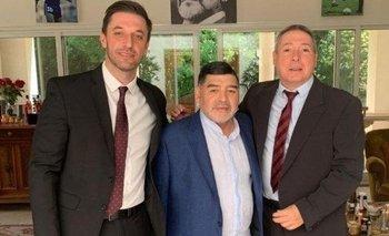 Morla con Maradona en la Casa Rosada