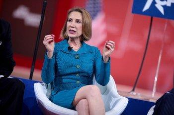 Carly Fiorina, excandidata presidencial republicana y directora ejecutiva de Hewlett-Packard