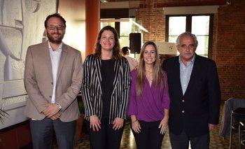 Mauricio Escobar, Inés Jakubovski, Celia Zunini y Alberto Fossati