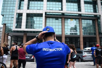Trabajadores de gimnasios se manifestaron este miércoles frente a Torre Ejecutiva
