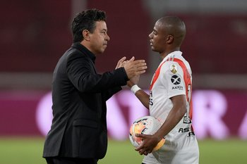 Marcelo Gallardo y Nico De La Cruz