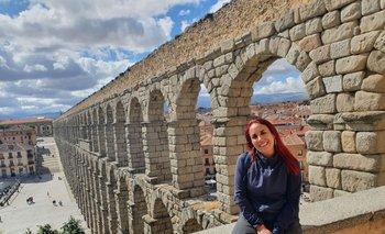 Mónica Morales viajó a España y Portugal en plena pandemia