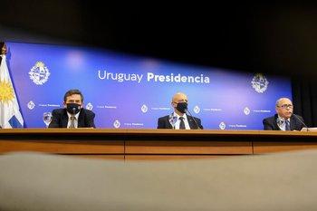 Conferencia de prensa que dio el GACH el 16 de diciembre en Torre Ejecutiva