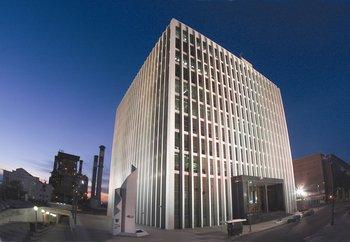 Edificio sede de UTE en Montevideo.