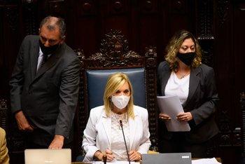 La presidenta de la Cámara de Senadores, Beatriz Argimón