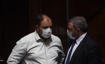 Charles Carrera y Mario Bergara, senadores del FA