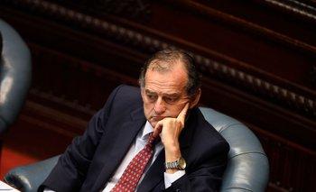 Archivo. El senador Manini durante una sesión del plenario